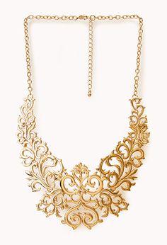 Regal Damask Bib Necklace | FOREVER21 - 1000050625