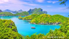 Ang Thong National Marine Park is an archipelago consisting of 42 mainly uninhibited lush tropical Islands. The marine park is, without doubt, one of the most stunning places in the world. Tickets for tours and activities available at Island Info, inside Ark Bar Beach Resort http://www.islandinfokohsamui.com/