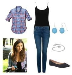 """The Vampire Diaries Elena Gilbert School Inspired Outfit"" by camemckeith on Polyvore featuring Abercrombie & Fitch, M&Co, Liz Claiborne, NYDJ, Lane Bryant, women's clothing, women's fashion, women, female and woman"