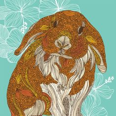 Little Bunny print by valentinadesign on Etsy