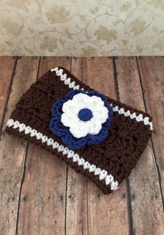 Crochet Football Ear Warmer Headband by MyPreciousHope on Etsy