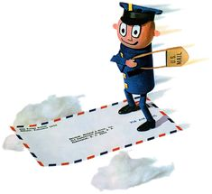 The National Postal Museum's online history of Mr. ZIP and the ZIP Code promotional campaign is essential ogling, uh, reading. History Icon, Us Postal Service, You've Got Mail, Going Postal, Envelope Art, Customer Appreciation, Mail Art, Coding, Lettering