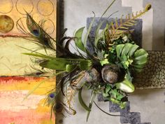 #Peacock Greenery arrangement