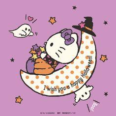 Happy Halloween (*´◒`*) Hello Kitty Halloween Costume, Pink Halloween, Halloween Prints, Halloween 2019, Happy Halloween, Sanrio Hello Kitty, Hello Kitty Pictures, Kitty Images, Hello Kitty Imagenes