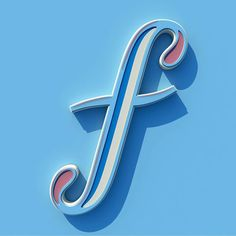 3-D letter f