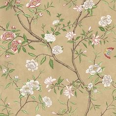 Zoffany Nostell Priory Old Gold/ Green Wallpaper main image