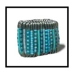 I saw one of these on a colleague and loved it. Had no idea it was made from safety pins. Can't wait to make it.How To Make A Safety Pin Bracelet..
