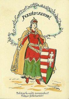 A mai ember számára a legnagyobb kérdés, hogy a bennünket kereső Názáreti Jézus kérdésére tudunk-e úgy válaszolni: Uram kihez mehetnénk, hiszen örök-életnek beszéde van tenálad! Hungarian Tattoo, Heart Of Europe, Folk Fashion, Aragon, Coat Of Arms, Art Nouveau, Marvel, Faith, Poster