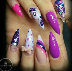 50 Magical Unicorn Nail Designs You Will Go Crazy For Pink And nail design unicorn - Nail Desing Fabulous Nails, Gorgeous Nails, Ongles Hello Kitty, Unicorn Nails Designs, Uñas Fashion, Sparkle Nails, Hot Nails, Nail Decorations, Creative Nails