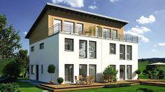 Doppelhaus mit Dachterrasse - D 1128.1/1106.4 - SchwörerHaus KG