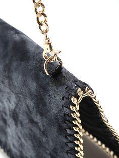 Black Sequined Shoulder Bag