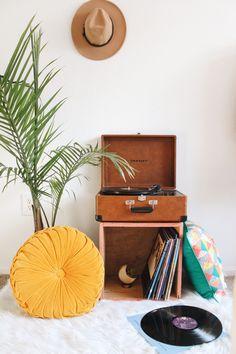 Interiors // Record Player Nook - October June