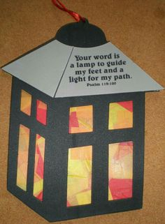Thy word is a lamp unto my feet craft sunday school kids, sunday school activities