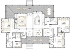 Ashley River Rest Home Plan — Flatfish Island Designs — Coastal Home Plans Cottage House Plans, New House Plans, Dream House Plans, Small House Plans, Cottage Homes, House Floor Plans, My Dream Home, Dream Houses, Modern Murphy Beds