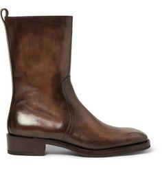 Must have these boots! Berluti Venezia Leather Calf Boots   MR PORTER