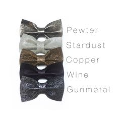 Sweetest leather hair bows  Www.coastalbowcompany.com