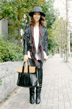 Why You Need an Oversized Plaid Scarf this Season   StyleCaster