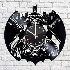 Batman Arkham city Handmade Vinyl Record Wall Clock Fan Gift - VINYL CLOCKS