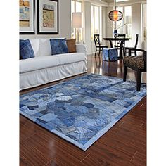 @Overstock - Denim rules in this fun and playful Beaufort Denim Blue Pockets rug. Hand stitched the pattern displays repurposed jeans artfully constructed in felt-backed rugs that are sure to liven up any room.http://www.overstock.com/Home-Garden/Hand-stitched-Beaufort-Denim-Blue-Pockets-Cotton-Rug-76-x-96/6681960/product.html?CID=214117 $373.99