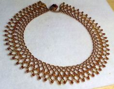 Victorian Style Chocolate Netted Bead Necklace Set Dickens | eBay