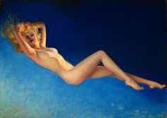 The Blue Nude  Artist:	Rolf Armstrong  Date:	1932