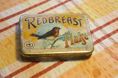 Vintage Ogden's Redbreast Flake Tobacco Tin from eBay