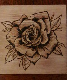 Rose#houtbranden