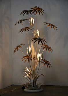 For sale: Floral Floor Lamp by Hans Kögl, Interior Lighting, Home Lighting, Modern Lighting, Art Deco Lighting, Diy Home Decor, Room Decor, Wall Decor, Wall Lamps, Metal Furniture