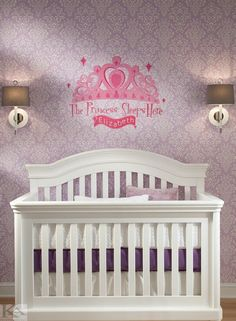 York Wallcoverings Peek-A-Boo Delicate Document Damask Removable Wallpaper, Deep Oyster/White Damask Wallpaper, Modern Wallpaper, Sophisticated Nursery, Peek A Boo, Kids Bedroom, Bedroom Ideas, Pink Girl, Room Inspiration, Wall Decals