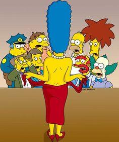 hole comic Marge simpson glory