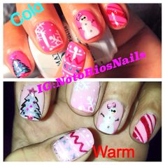 Mood changing holiday nails follow me on Instagram/twitter/Facebook @Nikki Rios