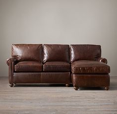The Pee Lancaster Leather Right Arm Sofa Chaise Sectional