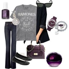 One of my favorite outfits to wear.  boyfriend jacket, purple, jeans