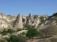 Cappadocia, Turkey - The rock-cut houses and temples of the more than 200 underground villages and tunnel towns have survived the last 2,000 years and some of them are still occupied