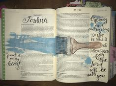 Joshua- God is my salvation❤️ Bible Journaling For Beginners, Bible Study Journal, Art Journaling, Bible Drawing, Bible Doodling, Scripture Art, Bible Art, Bible Verses, Joshua Bible