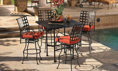 bar height outdoor furniture | Aminis | Classico Collection Patio Set - O.W. Lee Furniture St. Louis