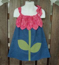 Pink Flower Pillowcase Dress Size 3/4 SewSoNancy by SewSoNancy, $29.00