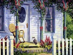 Rocker on Porch ~ Randy van Beek