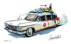 I got no work done today because…: Ghostbusters Month - - Ink Sketch Extreme Ghostbusters, Back To The Future Tattoo, Die Geisterjäger, Car Tattoos, Ghost Busters, Us Cars, Retro Toys, Creature Design, Movie Posters
