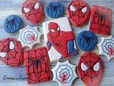 spiderman cookies--blue for goodie bags