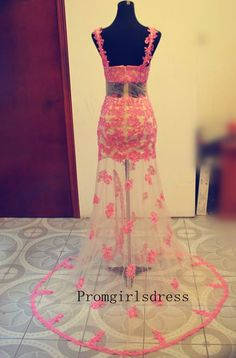 Prom dress Lace Prom Dress Hollowed Out Prom by Promgirlsdress