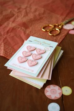 A Field Journal: free Button Card Valentines...paper buttons, super cute!