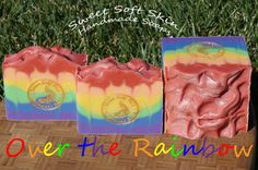 Over the Rainbow Soap Bars by SweetSoftSkin on Etsy