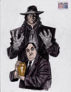 The Undertaker & Paul Bearer by Ron Ackins Nwo Wrestling, Wrestling Stars, Wrestling Superstars, Paul Bearer, Undertaker Wwe, Eddie Guerrero, Best Wrestlers, Wwe Tna, Wwe Girls