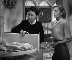 Closet shelving (Rebecca, the movie with Joan Fontaine)