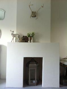 wow leuke schouw! Home And Living, Living Room, Interior Design Inspiration, New Homes, Fire Places, House Ideas, Interiors, Garden, Home Decor