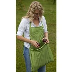 Hands-free harvest apron.