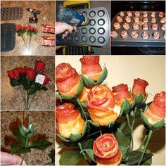 DIY Creative Bacon Rose Bouquet | iCreativeIdeas.com Follow Us on Facebook --> https://www.facebook.com/icreativeideas