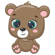 Cute Animal Clipart, Bear Clipart, Cute Clipart, Cute Little Drawings, Cute Drawings, Farm Cartoon, Baby Motiv, Baby Animals, Cute Animals