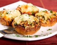 Champignons farcis au jambon (facile, rapide) - Une recette CuisineAZ